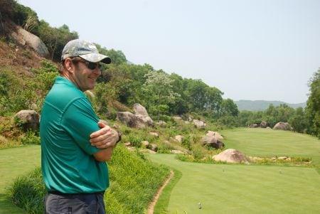 Sir Nick Faldo in Laguna Lang Co