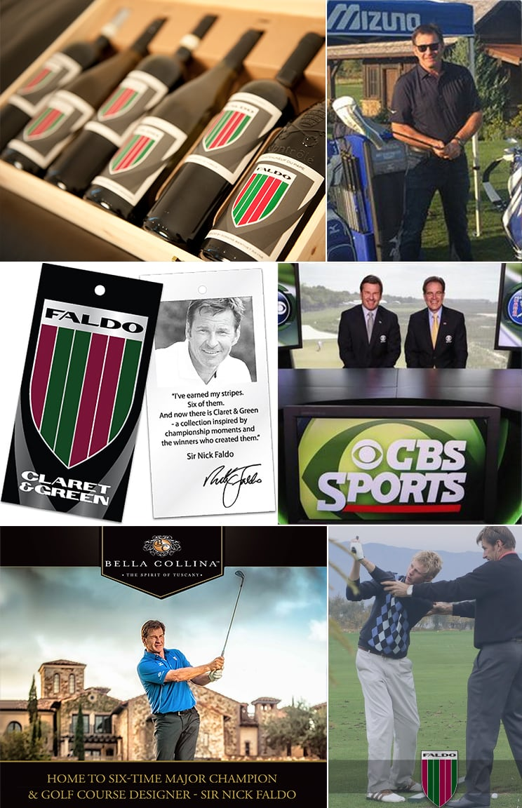 Sir Nick Faldo collage