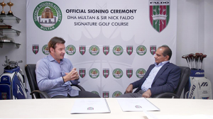 Sir Nick Faldo to design a signature golf course in Multan, Pakistan